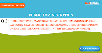 Public Administration Answer Writing Challenge - Question Set 1