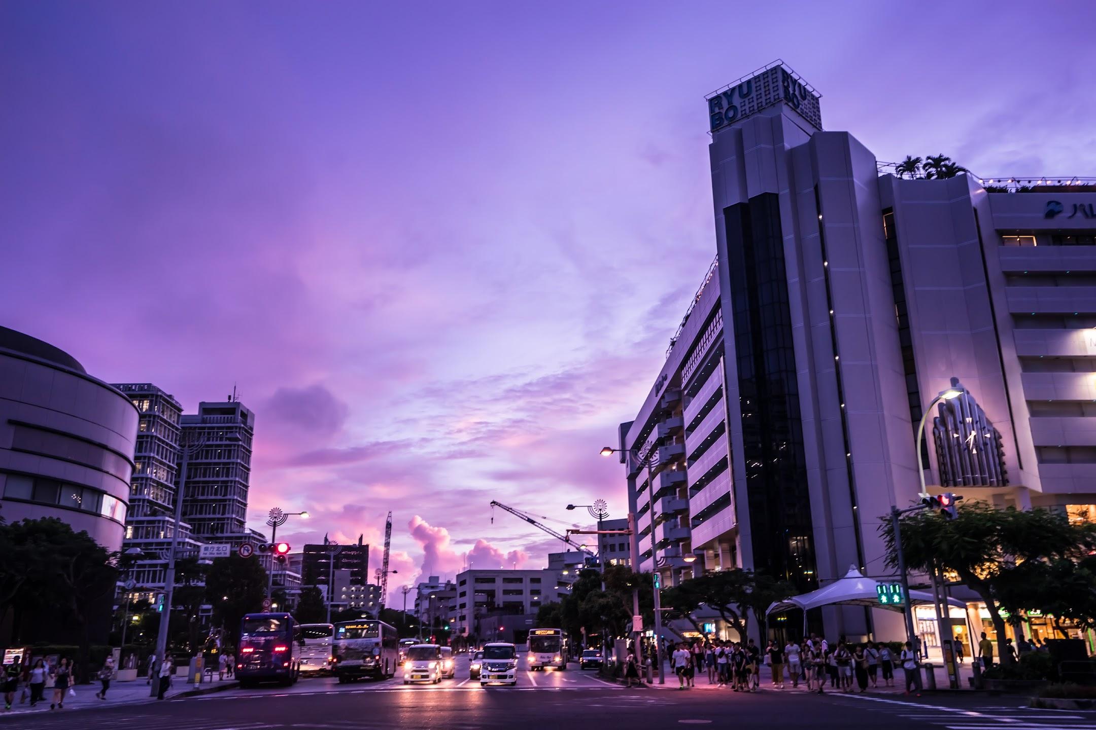 沖縄 国際通り 夕景1