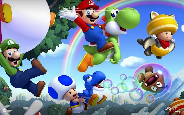 Super Mario Bros HD Wallpaper New Tab Theme