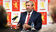 Kevin de Klerk (Lions President) during the special announcement by the Golden Lions Rugby Union at Emirates Airline Park on August 29, 2018 in Johannesburg, South Africa.