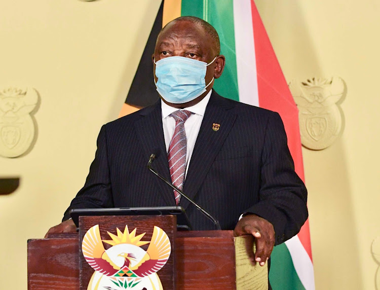 President Cyril Rampahosa addresses SA on Thursday night.