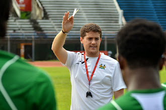 Photo: Head Coach Johnny McKinstry [Leone Stars Training Camp, in advance of Equatorial Guinea game, Sept 2013 (Pic: Darren McKinstry)]