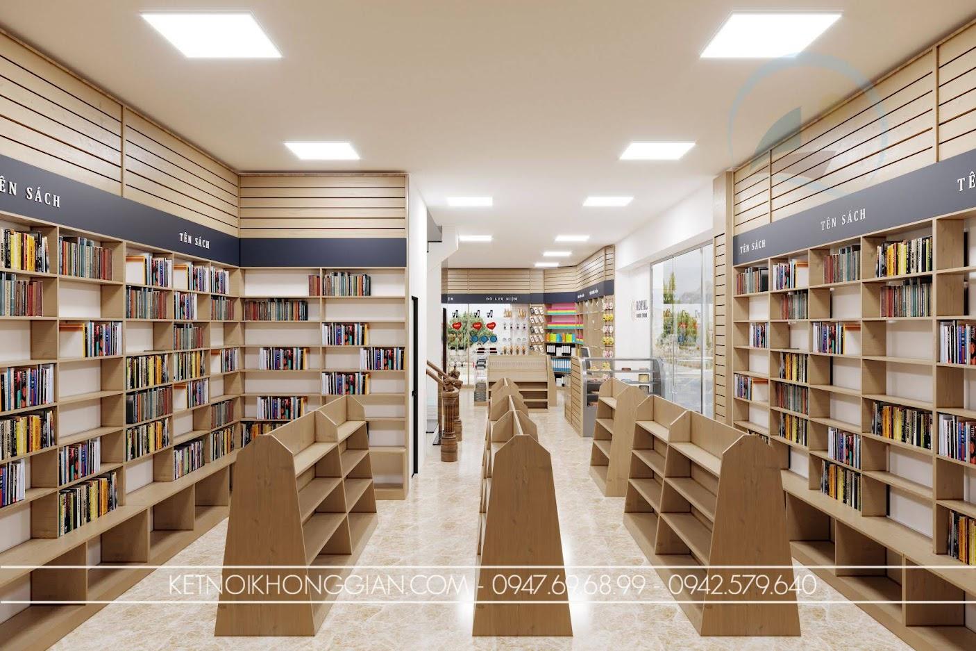 thiết kế nhà sách tại hà nội