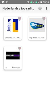 Nederlandse top radiozenders - náhled