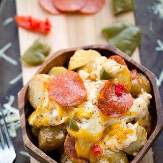 Slow Cooker Pizza Potatoes