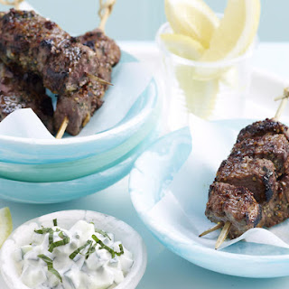 Honey-Mint Lamb Skewers with Tzatziki