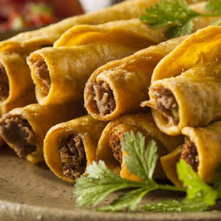 Baked Ground Beef Taquitos.