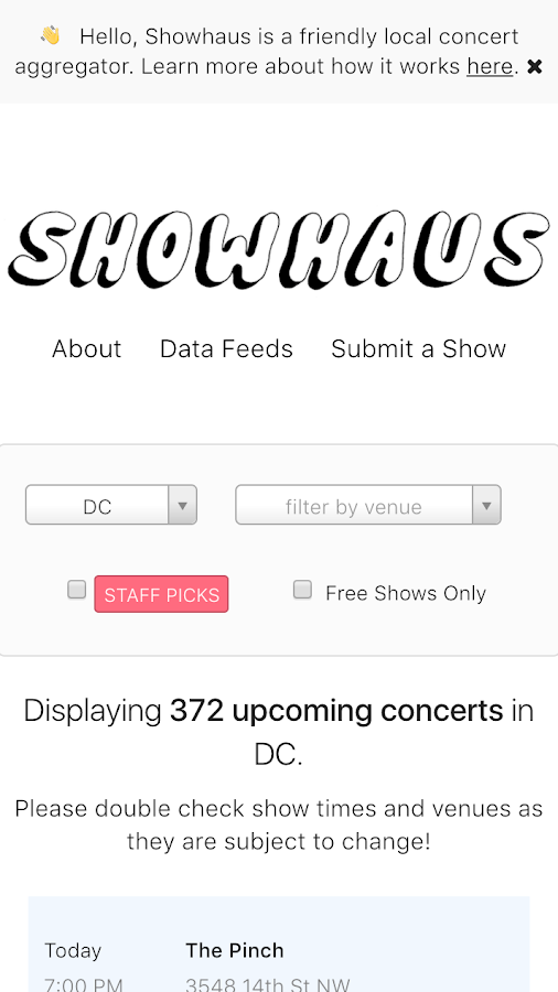 showhaus - the place for shows- screenshot