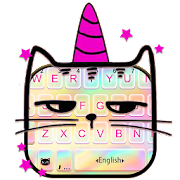App Holographic Unicorn Cat Keyboard Theme APK for Kindle