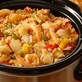 Slow Cooker Chicken Jambalaya.
