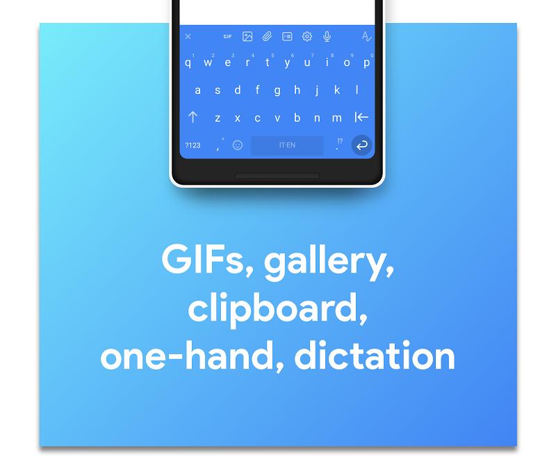 Hydrogen Keyboard Chrooma - Swipe, Fast, Typing Screenshot 1
