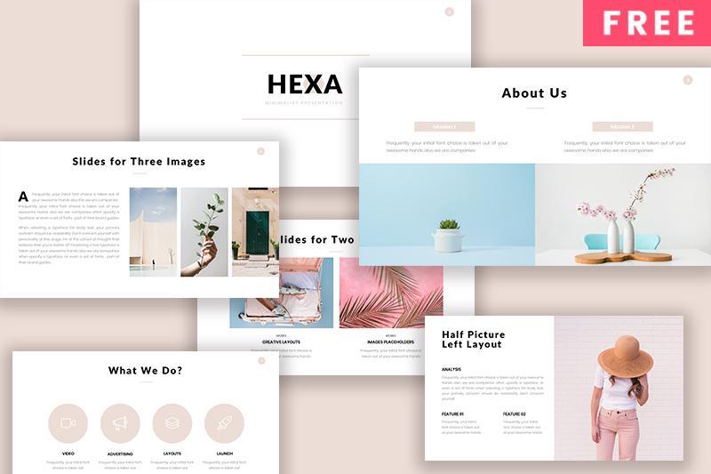 HEXA Free Minimalist Powerpoint Template