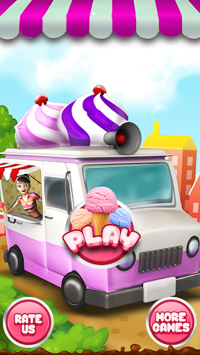 Crazy Ice Cream Kitchen Van 3D