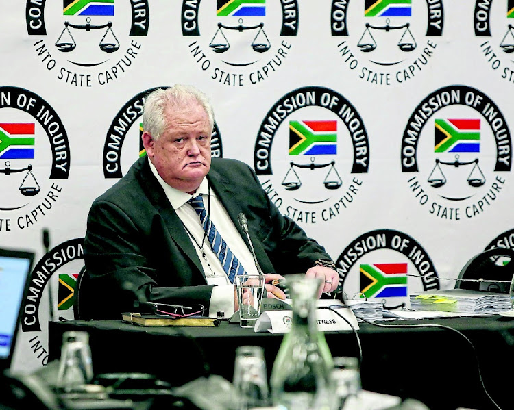 Bosasa whistleblower Angelo Agrizzi prepares to give testimony at the Zondo commission in January. Picture: Alaister Russell/The Sunday Times