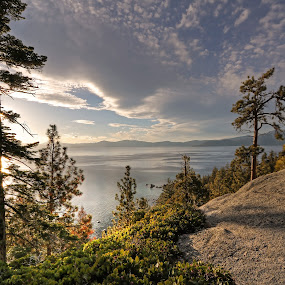 Lake Tahoe, Nevada by Arvind Mallya - Landscapes Mountains & Hills ( water, hills, mountains, sky, nevada, lake, lake tahoe )