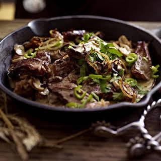 Steak with Mushrooms.