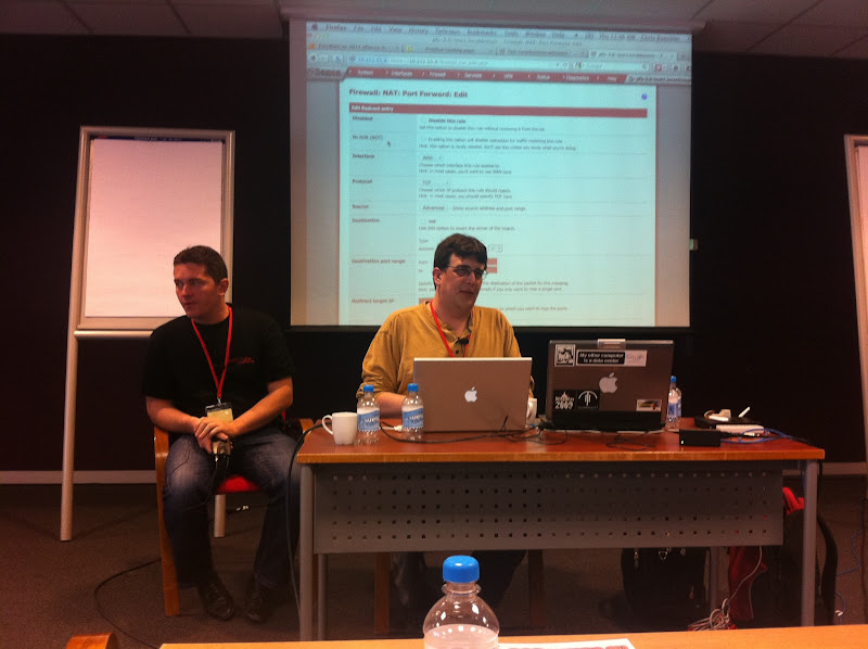Photo: Chris presenting