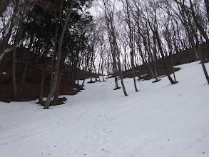 最後は雪の上