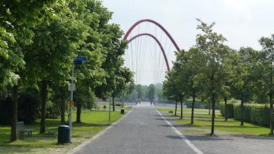 Photo: Doppelbogenbrücke über dem Rhein-Herne-Kanal