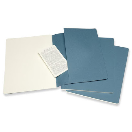 3 x Cahier Journal XL Brisk Blue