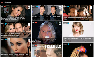 Screenshot of Celebrity News -airG Buzz Feed