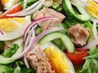 Tossed Tuna Egg Salad Recipe