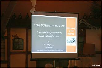 Photo: Ein interessanter Vortrag von Ian Higham über die Faszination der Border Terrier