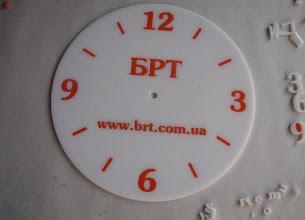 Photo: Часы из акрила с логотипом. Лазерная резка 2-х цветов акрила