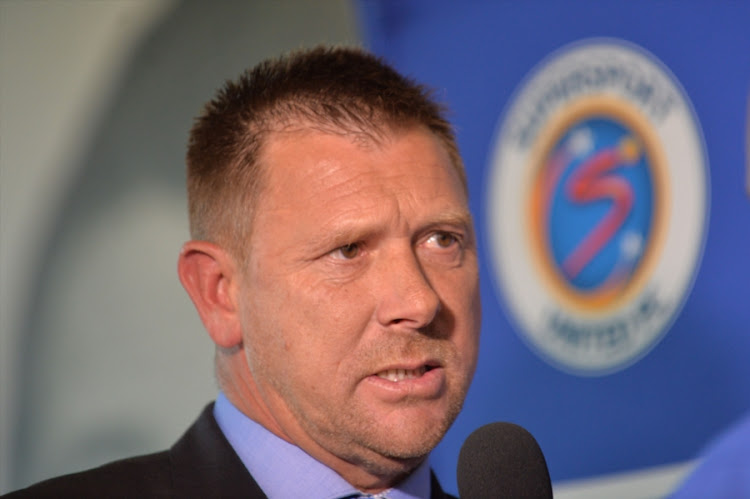 SuperSport United new coach Eric Tinkler during the SuperSport United formal announcement at Multichoice City Ground Floor on June 08, 2017 in Johannesburg, South Africa.