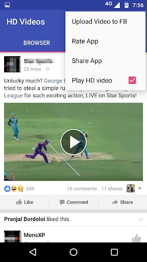 HD Video Download for Facebook  screenshots 5