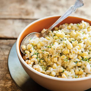 Risotto with Fresh Corn & Basil Oil Recipe