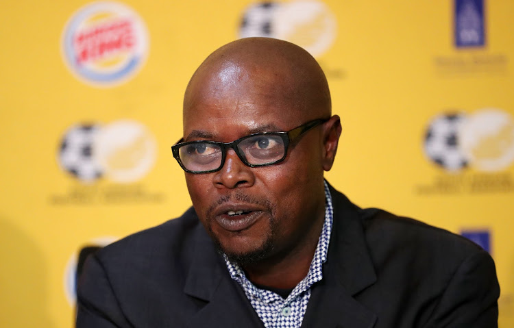 Phil Masinga during the 2018 SAFA Press Conference at the SAFA House, Johannesburg on 26 July 2018.