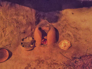 Photo: Bread cooking in the old kitchen.