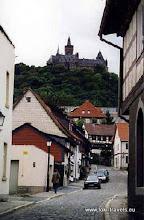 Photo: Wernigerode. Uitzicht vanuit de Breite Strasse.