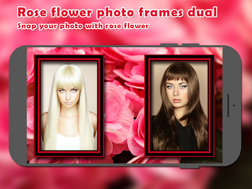 Rose Flower Photo Frames Dual