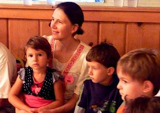 Photo: Judit and children