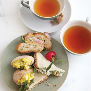 Sesame-Crusted Crab and Mango Tea Sandwiches