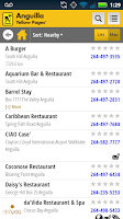 Screenshot of Anguilla Yellow Pages