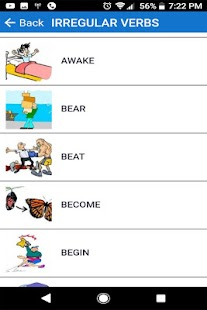 English Verbs Regular & Irregular Screenshot