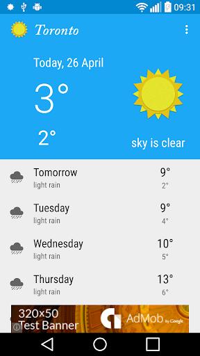 Toronto ON - weather