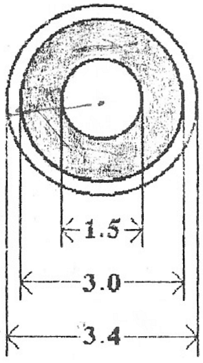 Cross-section view of the tube