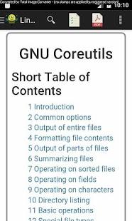 Linux CoreUtils Manual - náhled