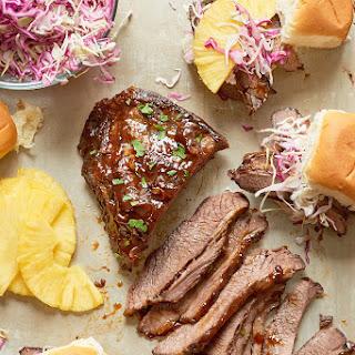 Slow Cooker Hawaiian Brisket Sandwiches.