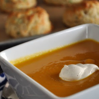 Butternut Squash Soup with Brown Butter & Nutmeg.