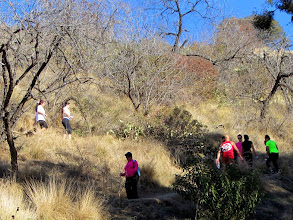 Photo: 10:20 AM - Begin hike on Garcia Trail in Azusa. I'm immediately struck by the amount of foot traffic.