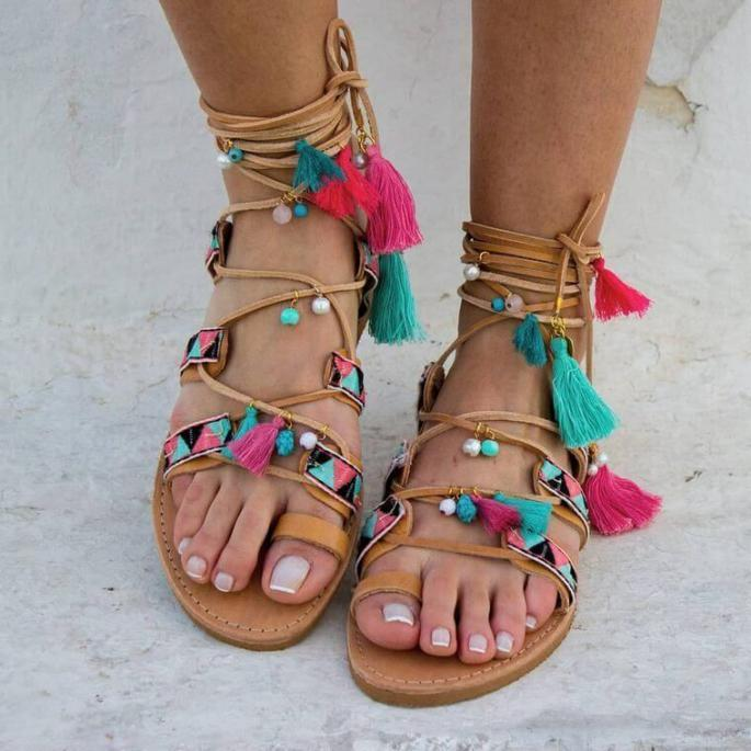 Bohemian sandals are extraordinary approach to focus on a couple of  ravishing legs or basically make a … | Bohemian sandals, Bohemian style  shoes, Boho chic sandals