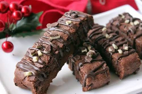 """Click Here for Recipe: Chocolate Mint Biscotti """"This divine biscotti is full..."""
