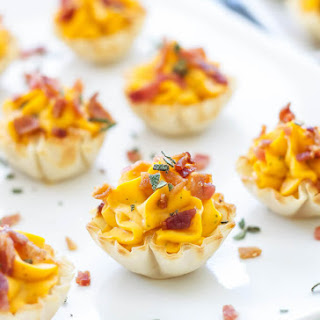 Mini Bacon Butternut Squash Cups