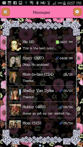 GO SMS - DivineDiamonds4