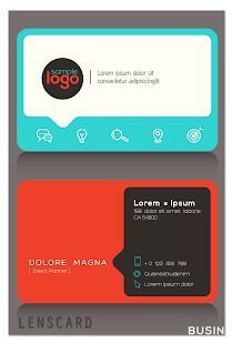 Lenscard -Business Card Maker Screenshot